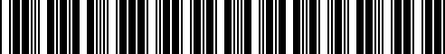 Barcode for 46718526107