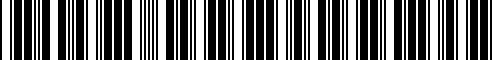 Barcode for 61347714741