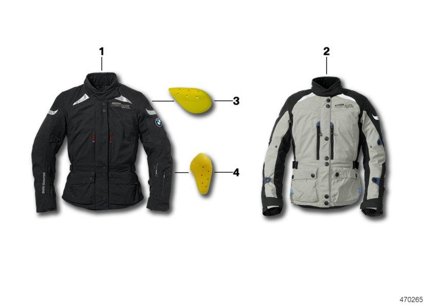 "Diagram Jacket Street AIR Dry Ladies"" - 2016 Jacket Street AIR Dry ladies - 2016 for your BMW"