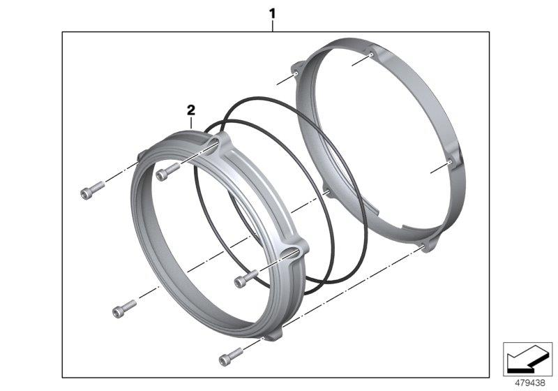 Diagram Headlight cover Machined for your BMW R nineT Scrambler