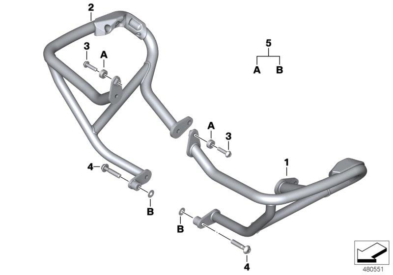 Diagram Engine protection bar for your BMW R1200RS