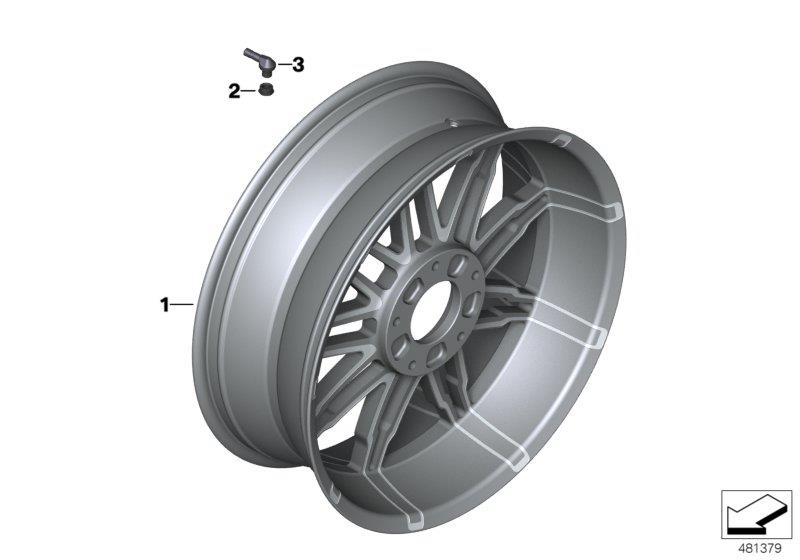 Diagram Forged wheel, rear for your BMW K1600GTL
