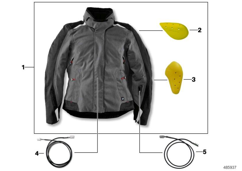 Diagram Jacket StreetGuard AIR ladies´ - 2017 for your BMW